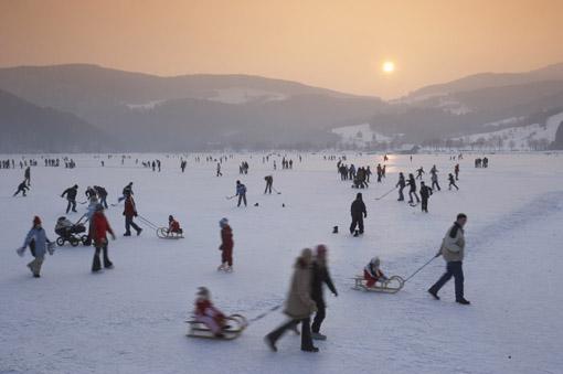 Eislaufen am Stubenbergsee